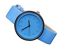 Часы наручные женские с голубым ремешком код 304