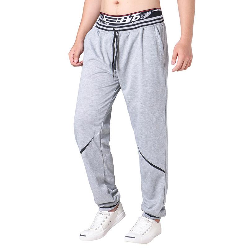 МужскаяэластичнаяталияDrawstringLooseCasual Брюки Comfort Stripe Waistline Спортивные брюки - 1TopShop