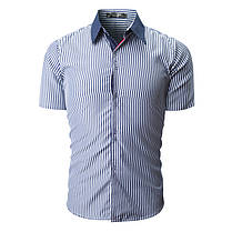 МужскаямодаВертикальнаяполосатаяпечатьПовседневная летняя одежда с короткими рукавами - 1TopShop, фото 3