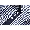 МужскаямодаВертикальнаяполосатаяпечатьПовседневная летняя одежда с короткими рукавами - 1TopShop, фото 4