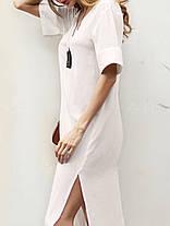 Plus Размер V-образным вырезом Разделенный сплошной цвет Винтаж Платье - 1TopShop, фото 3