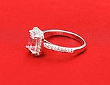 Кольцо с австрийскими кристаллами, покрытое серебром код 1258, фото 5