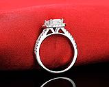 Кольцо с австрийскими кристаллами, покрытое серебром код 1258, фото 6