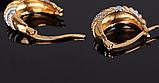 Позолоченные серьги код 1264, фото 3