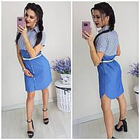 Женское платье-рубашка под джинс