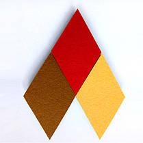Хонана DX-135 3PCS Творческий Красочные Rhombus Wool Войлок Многофункциональный стикер стены Смарт сбор платы - 1TopShop, фото 3