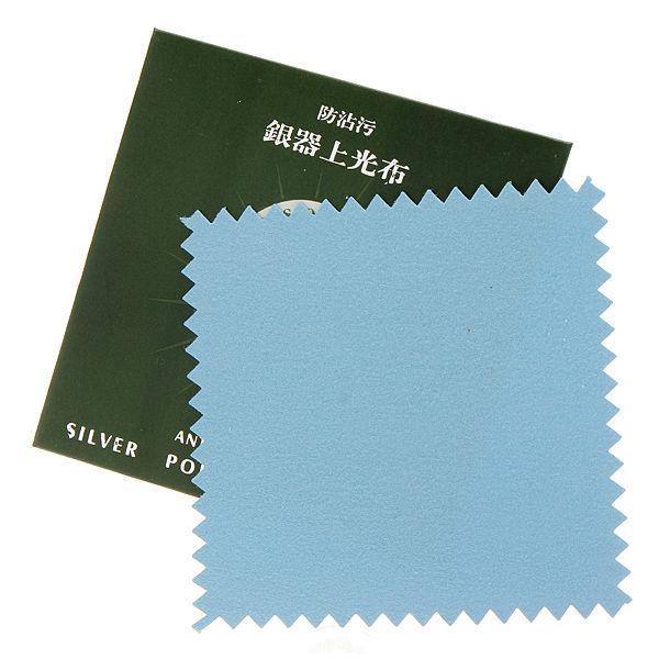 1шт стерлингового серебра салфетка для полировки ювелирных изделий уборщик 8x8cm - 1TopShop