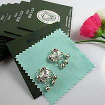 1шт стерлингового серебра салфетка для полировки ювелирных изделий уборщик 8x8cm - 1TopShop, фото 3