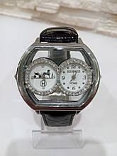 Наручний годинник з чорним ремінцем код 60