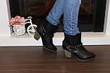Ботильоны женские черные на каблуке Д513, фото 9