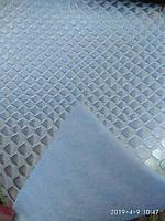 Кожзаменитель на войлочной основе мебельный для мягкой мебели ширина 140 см сублимация ракушки белый, фото 1