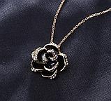 Позолоченный комплект цепочка, кулон, серьги и кольцо код 1108, фото 3