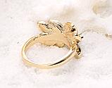 Позолоченный комплект цепочка, кулон, серьги и кольцо код 1108, фото 7