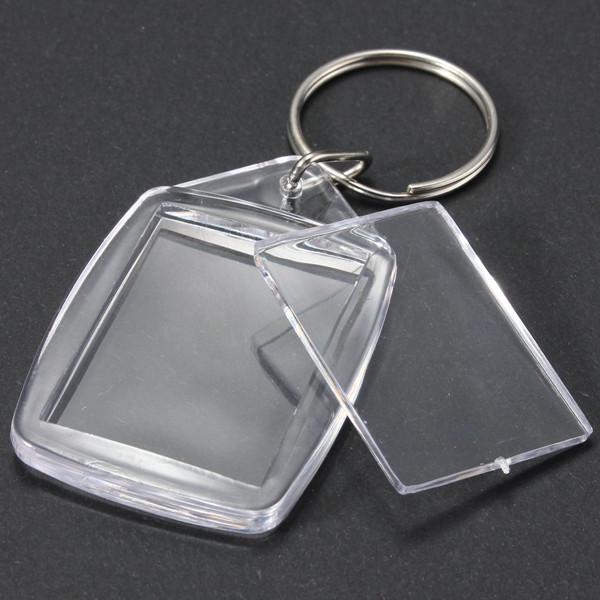 25x35 мм прозрачный акрил пластик пустой фото вставка брелока - 1TopShop