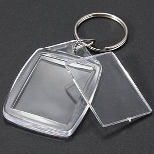 25x35 мм прозрачный акрил пластик пустой фото вставка брелока - 1TopShop, фото 2