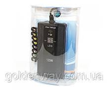 Автомобильная универсальная зарядка  для ноутбука 120W LCD работает от прикуривателя 12V или сеть 220V