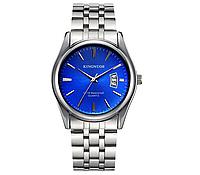 Стильные наручные мужские часы с серебристым ремешком код 349, фото 1