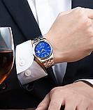 Стильные наручные мужские часы с серебристым ремешком код 349, фото 2