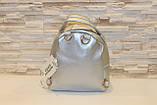 Модный серебристый женский рюкзак код 7-177, фото 3