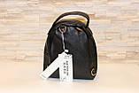 Модный черный женский рюкзак код 7-177, фото 2