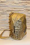 Модный золотистый женский рюкзак код 7-242, фото 2