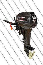 Лодочный 2-х тактный мотор PARSUN T15 BMS(бензомотор для лодок, мотор недорого), фото 2