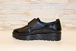 Туфли женские черные на липучках натуральная кожа Т865, фото 2