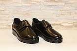 Туфли женские черные на липучках натуральная кожа Т865, фото 3