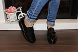 Туфли женские черные на липучках натуральная кожа Т865, фото 7