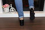 Туфли женские черные на липучках натуральная кожа Т865, фото 8