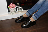 Туфли женские черные на липучках натуральная кожа Т865, фото 9
