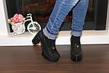 Туфли женские черные на каблуке Т892, фото 6