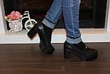 Туфли женские черные на каблуке Т892, фото 7