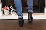 Туфли женские черные на каблуке Т892, фото 8