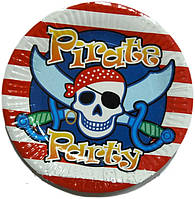 Тарелочка праздничная пираты Piratе party