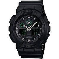 Стильные! Спортивные Часы Casio G-Shock ga-100 Black (касио джи шок черные) Наручний годинник