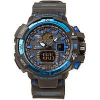 Спортивные часы Casio G-Shock GWA-1100 (касио джи шок) Black-Blue