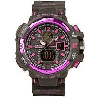 Спортивные часы Casio G-Shock GWA-1100 (касио джи шок) Black-Purple