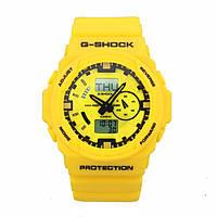 Спортивные часы Casio G-Shock GA-150 (касио джи шок) Yellow