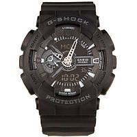 Спортивные мужские часы Casio G-shock GA-110 Black (касио джи шок) Наручний годинник
