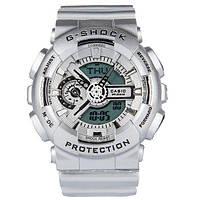 Спортивные мужские часы Casio G-shock GA-110 Silver  (касио джи шок) Наручний годинник