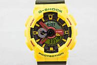 ТОП сезона ! Спортивные мужские часы Casio G-shock GA-110 YELLOW-KHAKI  (касио джи шок) Наручний годинник