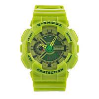 Стильные Спортивные часы Casio G-shock GA-110 LIME  (касио джи шок) (мужские\женские) Наручний годинник
