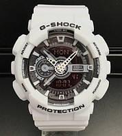 БРЕНД! часы CASIO G-shock GA-110 WHITE (касио джи-шок белые) Модные, спортивные