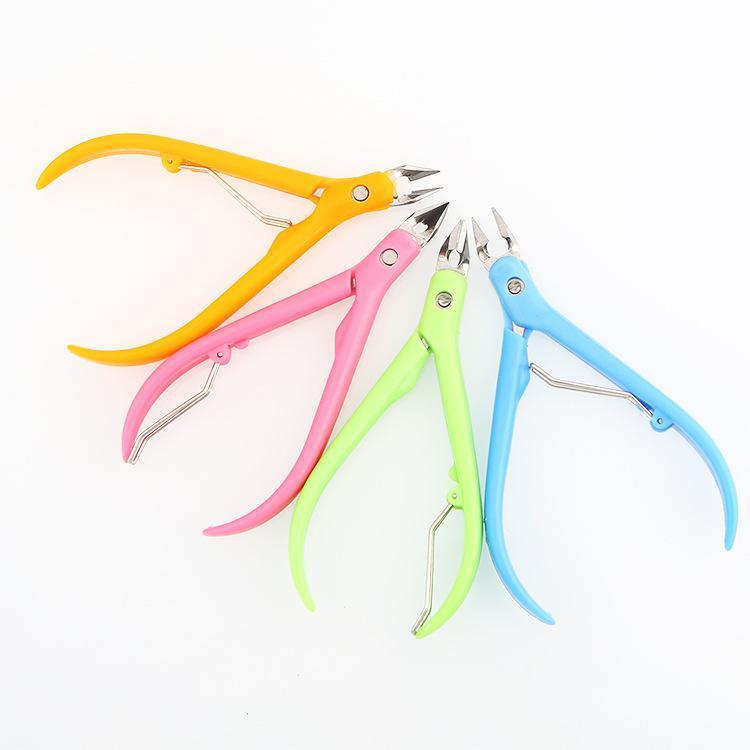Ногти Clipper Пластиковые ручки из нержавеющей стали Shell Ножницы красоты щипцы для мертвой кожи - 1TopShop