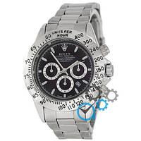 МУЖСКИЕ часы ROLEX Daytona Date Silver-Black (Ролекс Дайтона серебро - черные)  Чоловічий годинник, реплика