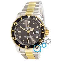 МУЖСКИЕ часы ROLEX Submariner Silver-Gold (Ролекс Дайтона) браслет серебро - золото Чоловічий годинник реплика