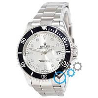 МУЖСКИЕ часы ROLEX Submariner Silver-Black-White (Ролекс Дайтона) браслет серебро, Чоловічий годинник реплика