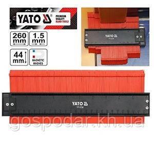 Шаблон профілів 260мм (1,5х44мм) Yato YT-3736
