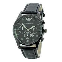 ЧАСЫ Мужские EMPORIO ARMANI SSB 0098 Black (эмпорио армани черные) Наручные Чоловічий годинник реплика, фото 1